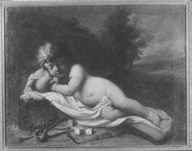 Schlafendes Jesuskind mit Marterwerkzeugen