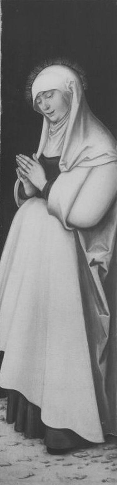 Kreuzigungstriptychon: Maria in Anbetung