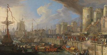 Empfang der venezianischen Gesandten beim Tower in London