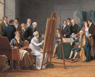 Atelierszene (Adélaïde Labille-Guiard porträtiert Joseph-Marie Vien)