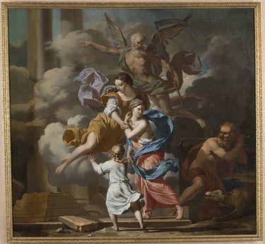 Allegorie auf den unsterblichen Ruhm der Kunst, welche die Zeit und den Neid besiegt