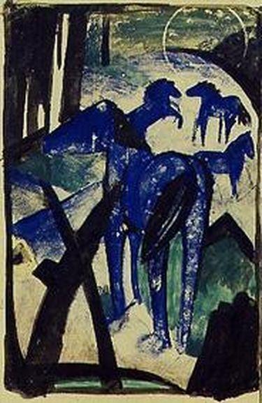 Die Mutterstute der blauen Pferde