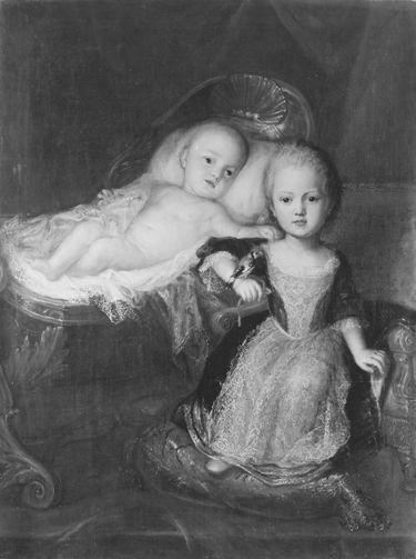 Prinz Johann Theodor, Sohn Max Emanuels, mit einem seiner Brüder