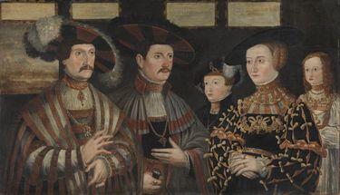 Pfalzgraf Ludwig II. von Zweibrücken-Veldenz mit seiner Familie und seinem Bruder Ruprecht