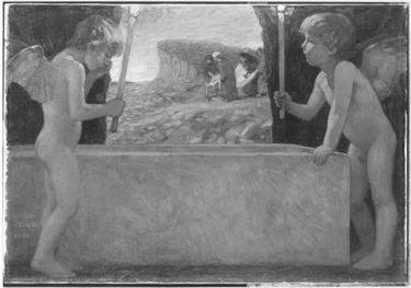 Zwei Engel am Grab Christi