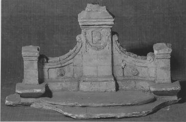 Modell für den Bismarckbrunnen im Park des Freiherrn Ferdinand von Stumm in Holzhausen, Hessen