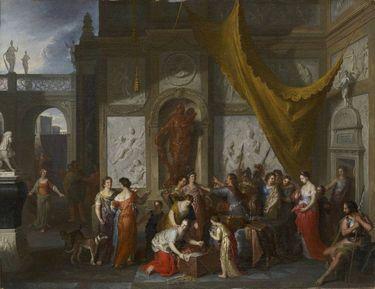 Odysseus erkennt den Achill unter den Töchtern des Lykomedes