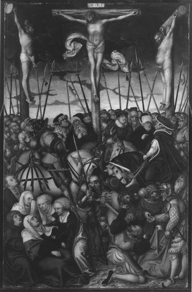 Kreuzigungstriptychon: Kreuzigung Christi