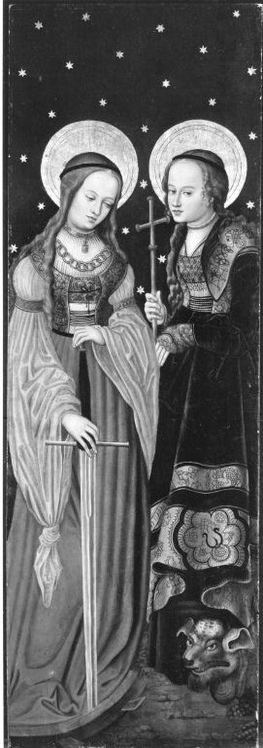 Altarflügel: Hll. Katharina und Magaretha