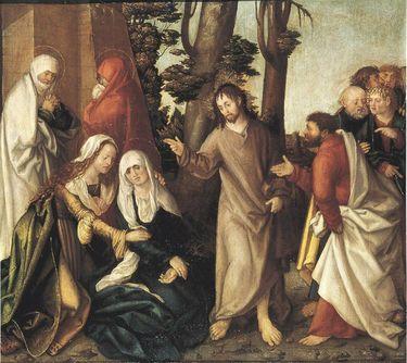 Erster Wettenhauser Altar: Abschied Christi Rückseite: Geißelung Christi