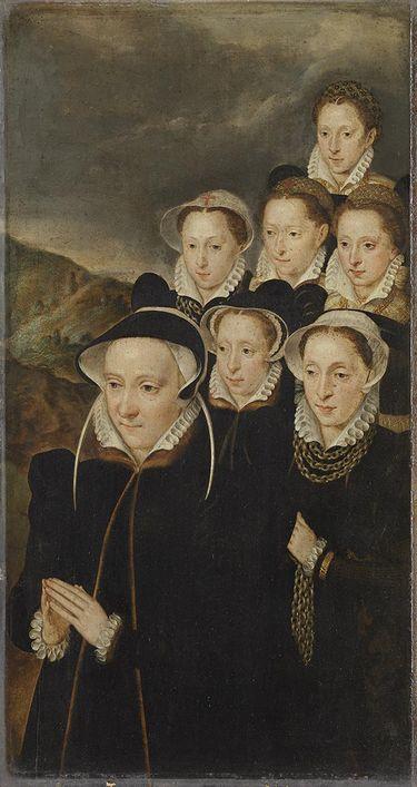 Jacqueline de Chantraines mit ihren Töchtern