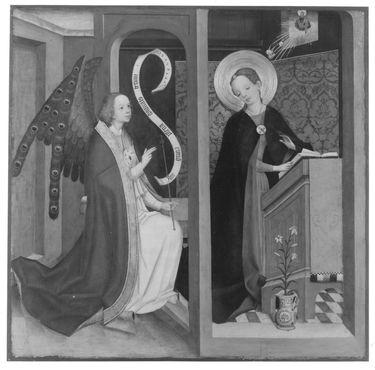 Tafel eines Altares: Verkündigung an Maria Rückseite: Noli me tangere