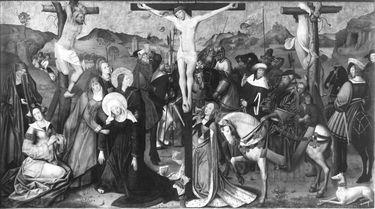 Kreuzigungsaltar: Kreuzigung Christi