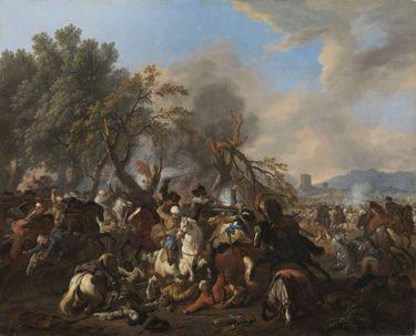 Reiterkampf am Waldrand