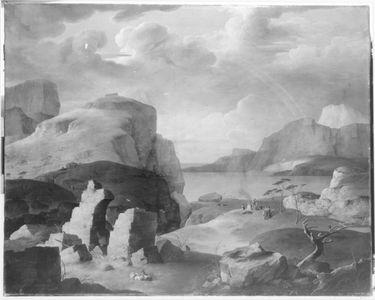 Landschaft mit dem Dankesopfer Noahs