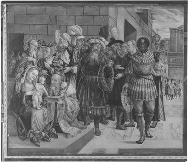 Anbetung der Könige Rückseite: Himmelfahrt und Krönung Mariens