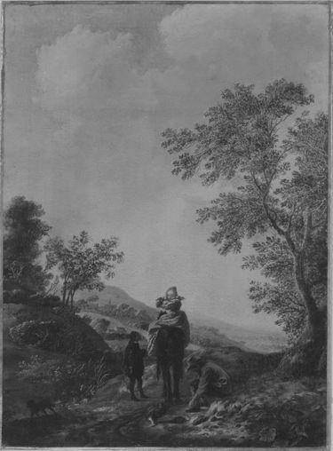 Landschaft mit Jagdgruppe
