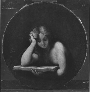 Büßende Magdalena, in einem Buch lesend