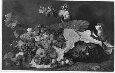 Stillleben (Früchte und zwei Affen)