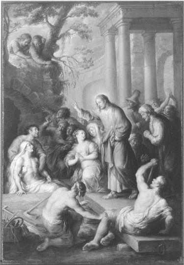 Christus erweckt Lazarus vom Tode