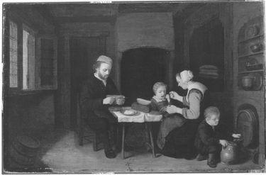 Familie bei der Mahlzeit