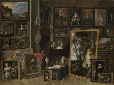 Ansicht der Galerie des Erzherzogs Leopold in Brüssel (II)