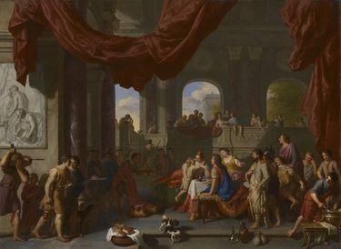 Aeneas und Ascanius beim Festmahl der Dido