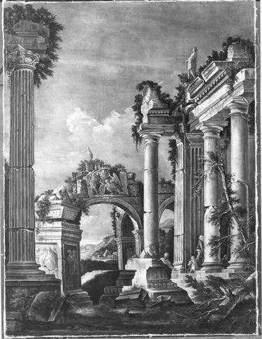 Römische Landschaft mit Staffage