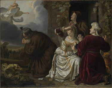 Der Engel verlässt die Familie des Tobias