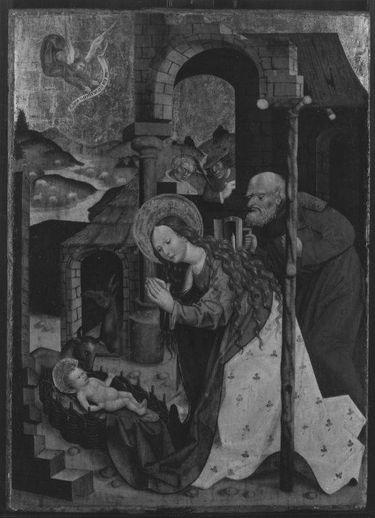 Geburt Christi (Rückseite: Begegnung an der Goldenen Pforte)
