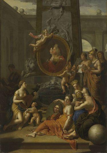 Die Künste huldigen dem Kurfürsten Johann Wilhelm von der Pfalz und seiner Gemahlin Maria Anna Louisa de' Medici