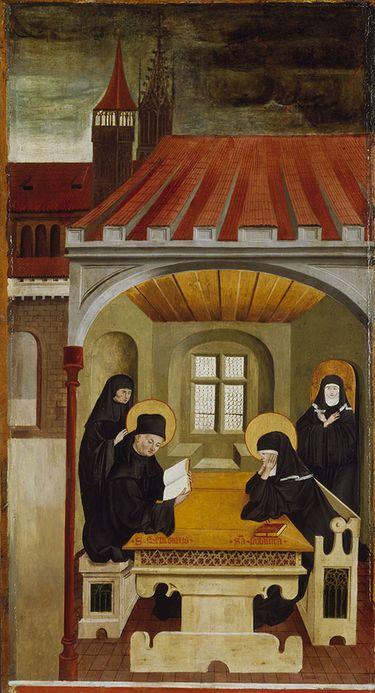 Benediktsaltar: Die hll. Benedikt und Scholastika und das Wunder des Unwetters