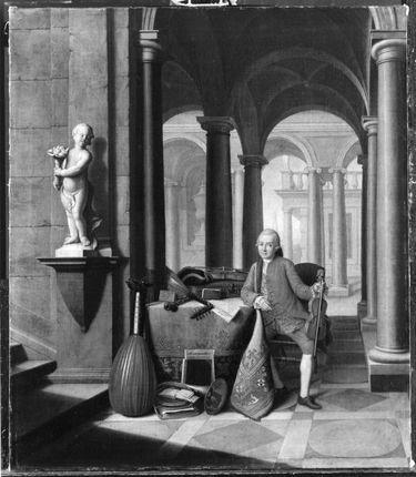 Hofmusikus mit Violine (Johann Georg Holzbogen)