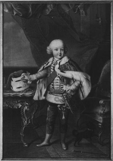 Bildnis des Pfalzgrafen Karl August von Pfalz-Birkenfeld-Zweibrücken im Alter von fünf Jahren in Husarenuniform (1746-1795)