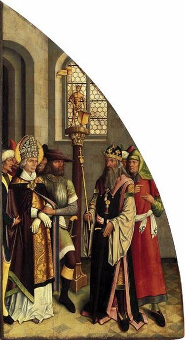 Valentins-Tafeln: Der hl. Valentin verweigert den Götzendienst