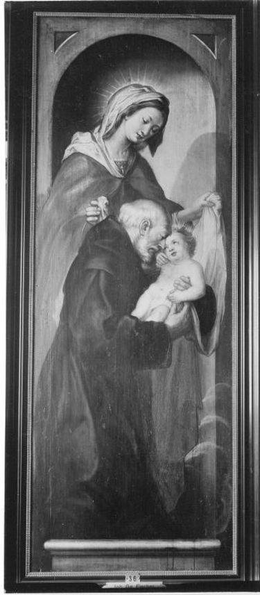 Maria mit Kind und einem hl. Mönch