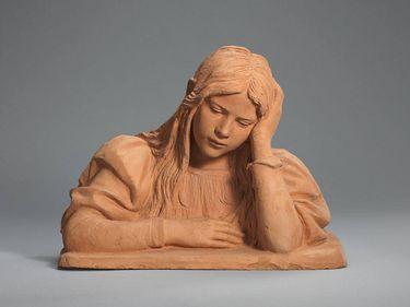 Berta Hildebrand, die Tochter des Künstlers