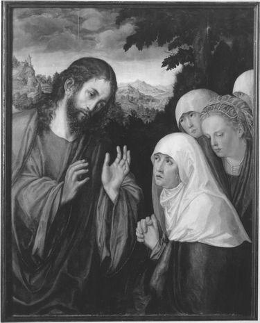Christus nimmt Abschied von seiner Mutter (Kopie nach dem Gemälde im Kunsthistorischen Museum Wien)
