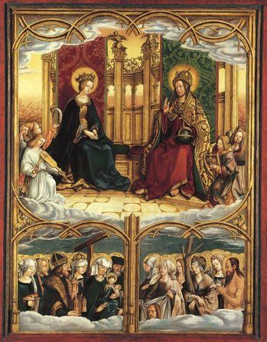 Allerheiligenaltar: Maria und Christus thronend