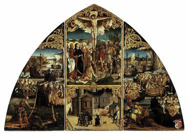 Basilika Santa Croce, Mitteltafel: Christus am Kreuz