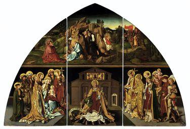 Basilika San Pietro: Christus am Ölberg, der hl. Petrus und die 14 Nothelfer