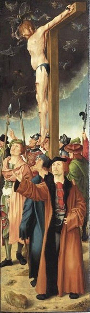 Rehlinger-Altar, rechter Flügel: Der unbußfertige Schächer