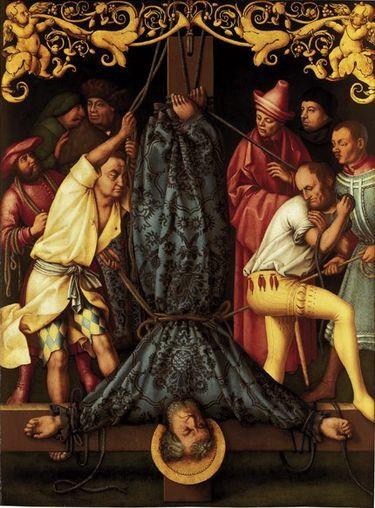 Katharinenaltar: Martyrium des  hl. Petrus