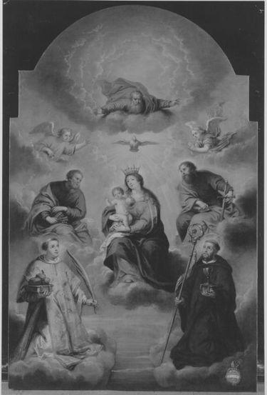 Maria mit Kind in Wolken