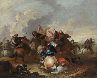 Reitergefecht mit Türken