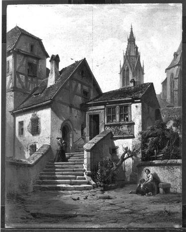 Motiv aus Rothenburg ob der Tauber