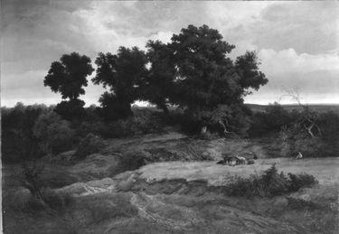 Landschaft mit Eichen