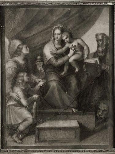 Madonna mit dem Fisch (anonyme Kopie nach dem Gemälde Raffaels)