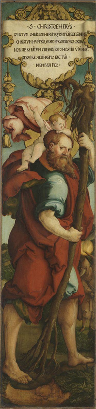 Hl. Christophorus Rückseite: Kandelaberornament