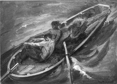 Fischer im Sturm